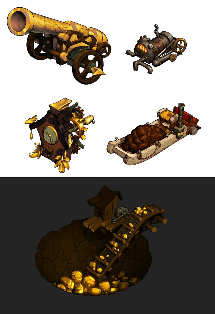 Gold and manure by danimation2001.deviantart.com
