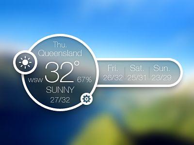 Weather Glass: by JOMMANS: a concept little desktop weather widget #UI