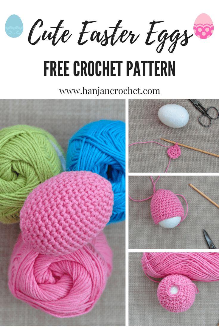 Free easter egg crochet pattern by Hannah Cross