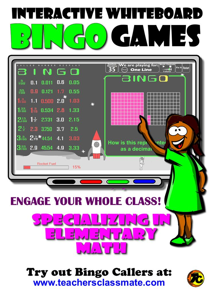 #Smartboard - Use interactive bingo caller to draw question cards and display called answers while your students play along with their own printed bingo cards. Tons of Fun! Try out bingo callers online at: www.teachersclassmate.com