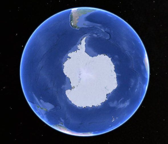 Earth-south-pole-view. Gorgeous!
