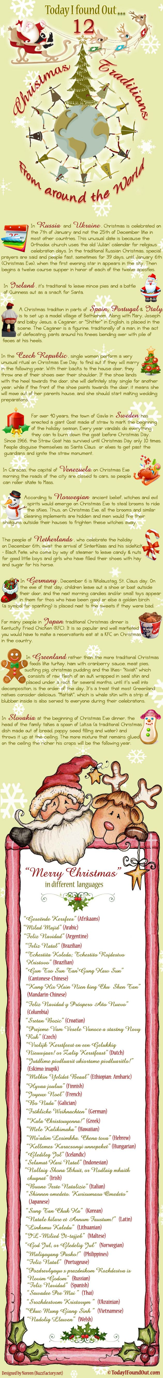 Fun Christmas Traditions From Around The World - Infographic