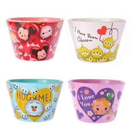 Disney Tsum Tsum Valentine Melamine Bowl Set
