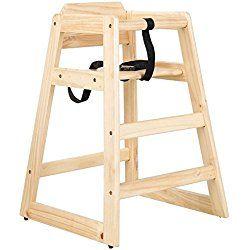 Baby Child Restaurant High Chair Unassembled, Natural