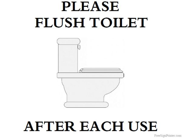 Printable Please Flush Toilet Sign Prince Of Tides