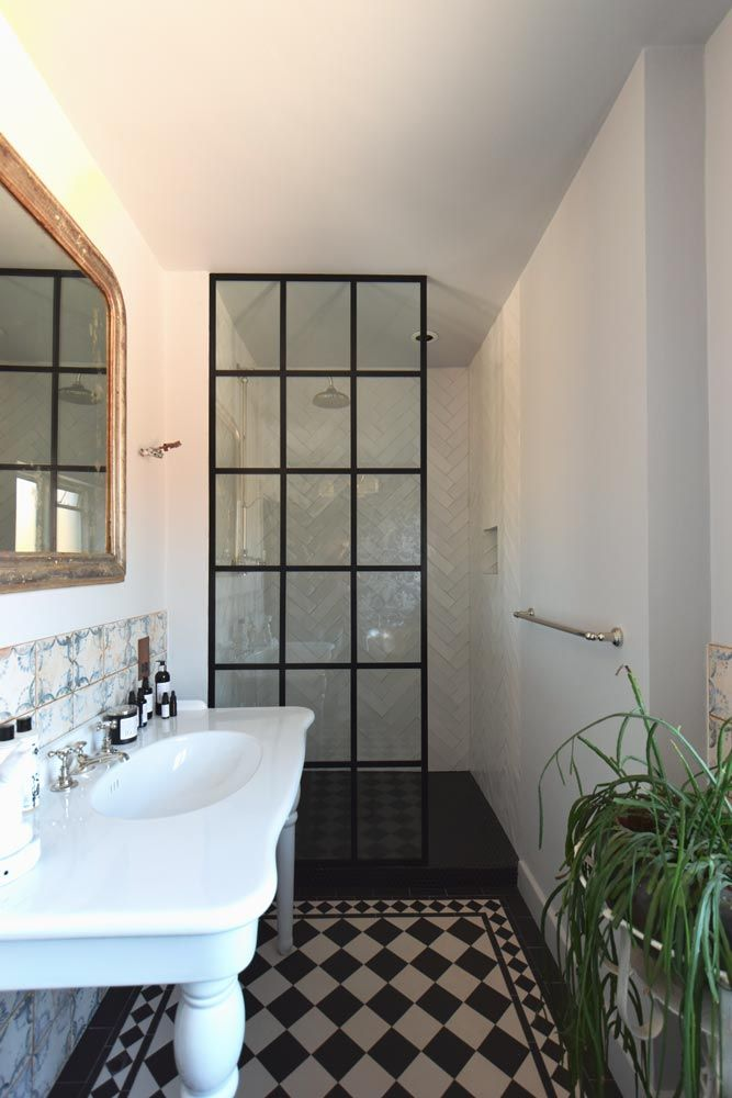 Crittall Style Shower Screen Black Shower Doors Shower Screen Framed Shower Door