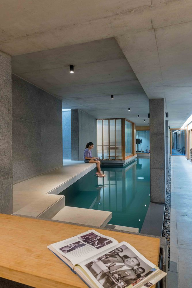 Gallery Of Saar Pool Spa For A Private Residence Vastu Shilpa Consultants 3 Underground Pool Contemporary House New Staircase