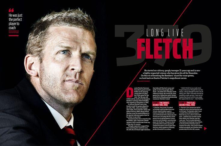 AFL Record Magazine Spread. Dustin Fletcher.