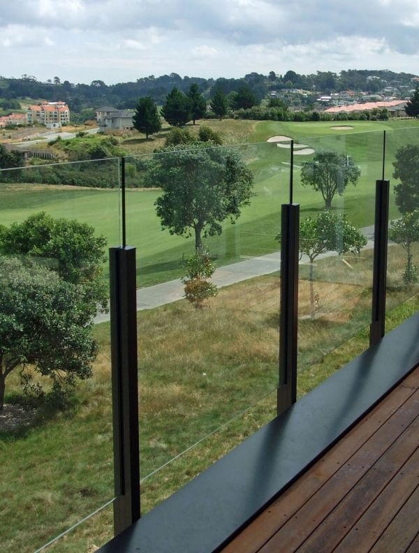Edge Semi Frameless Glass Balustrade with Protruding Glass Apr 2011