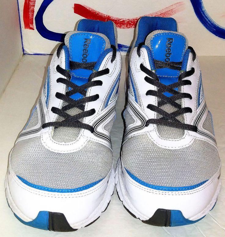 Reebok Women's Ultimatic Running Shoe Size 10,,White/Buzz Blue/Cyclone Grey