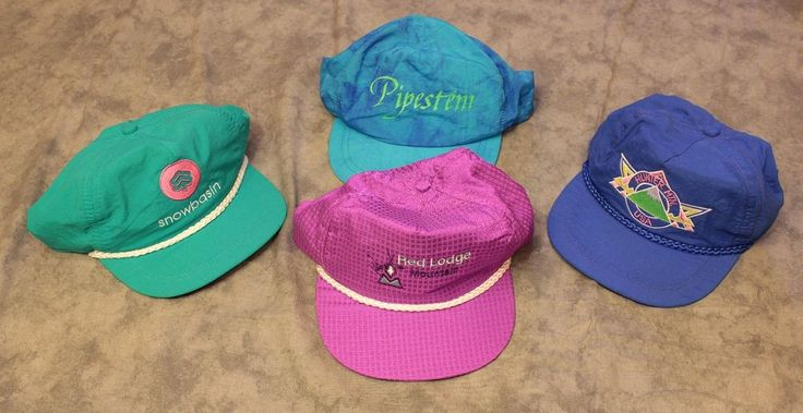 Vtg Ski Resort Trucker Hat Cap Lot Snow Basin Red Lodge Hunter MTN USA Pipestem #ImperialHeadwear #Adjustable