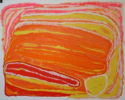 Eubena Nampitjin  Country  serigraph  50 x 65 cm  $650 AUD