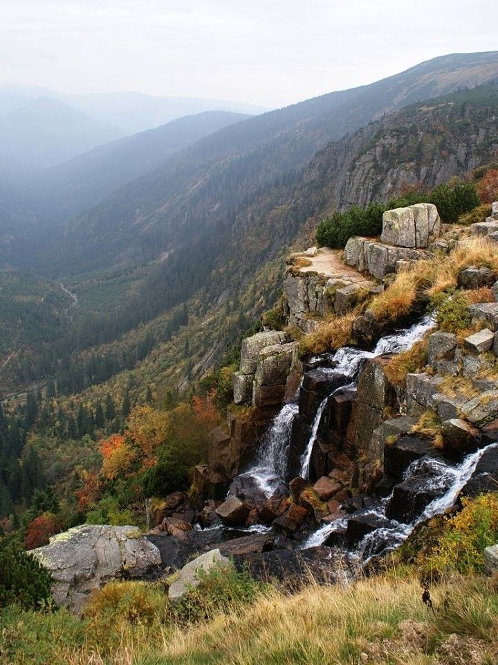 Pančava waterfall, Krkonoše National Park, The Czech Republic