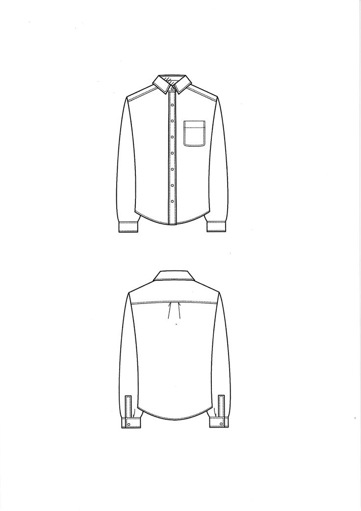 Technical drawing shirt
