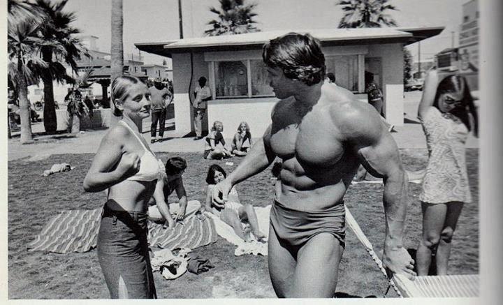 Arnold Schwarzenegger, Venice   Muscle Beach, California