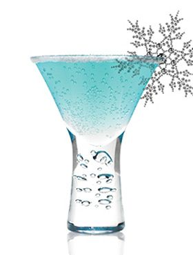 Future Freeze (1 1/2 oz. Svedka Vodka 1 oz. Blue Curacao 1/2 oz Fresh Lemon Juice 4 oz. Sprite)