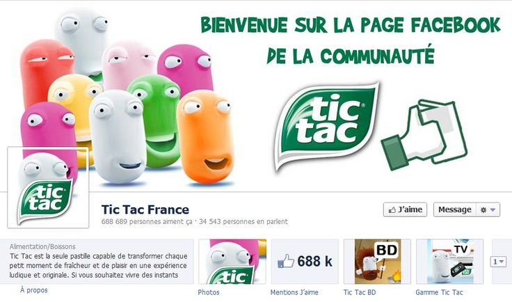 #facebook cover - couverture - Tic Tac France - avril 2012