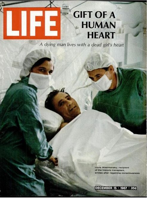 Today, 10-3 in 1967, the world's first successful heart transplant was performed. Dr. Christiaan Barnard performed the operation at Cape Town, South Africa.