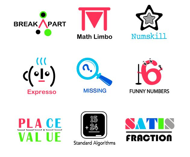 Greg tang math offers a nice selection of math games for elementary