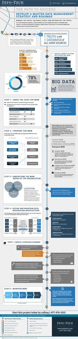 Develop a Master Data Management Strategy and Roadmap Infographic