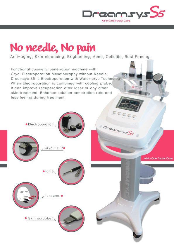 Cryo Cool Hot Electroporation No Needle Mesotherapy Skin Face Lifting pore GPKJ #GPKJ
