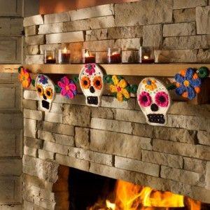 Decoracion de Halloween con Calaveras de Azucar1