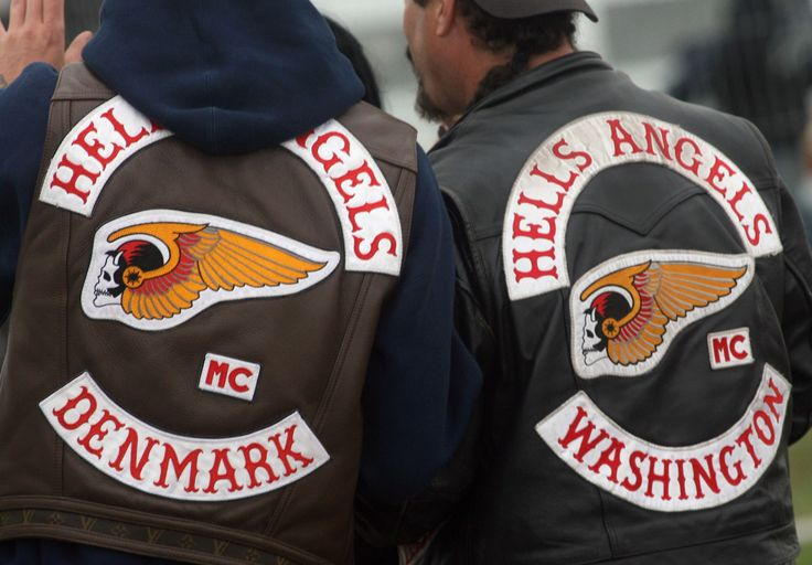 Hells Angels Back Patch Denmark And Washington Hells