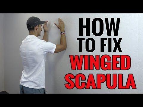BEST Winged Scapula Exercises (Fix Scapular Winging Treatment) - Serratus Anterior Exercises - YouTube