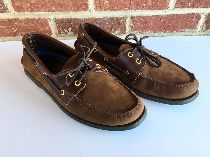 Sperry Top Sider Mens Boat Shoes Size 11 M 2-Eye Brown Buck 0195412 GUC  | eBay
