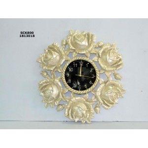 Dekoratif  Güllü Duvar Saati  Ürün Bilgisi;  Son derece kaliteli işçilik Taşlı duvar saati Çap : 60 cm Saat göbek : 23 cm
