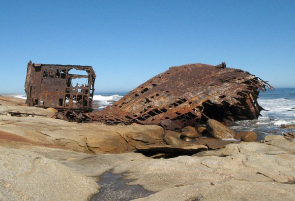 Shipwreck just south of Kleinzee, South Africa
