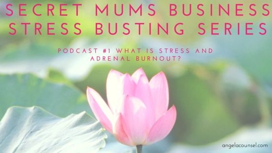 PODCAST: I'm excited to share the first podcast in the Secret Mums Business Stress Busting Podcast Series with you tonight. I talk about stress, what it is, what adrenal burnout is and how it can affect your health, relationships and business. Throughout the series I'll focus on ways you can kick stress well and truly to the curb forever.Click on the link to listen to Episode 1. #secretmumsbusiness #stressmanagement #healthyliving