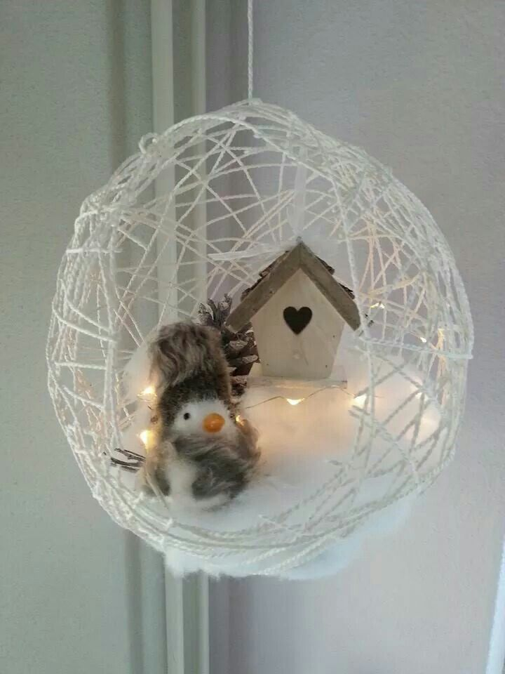 Winter in een ballon