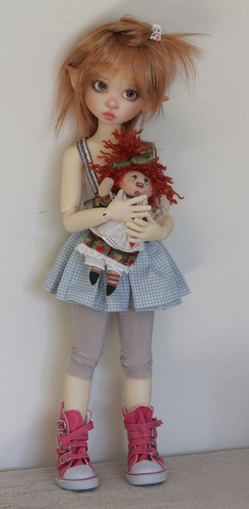 JpopDolls.net ™::Dolls::Kaye Wiggs Dolls::Gracie::Gracie Elf in Fair skin on MeiMei body