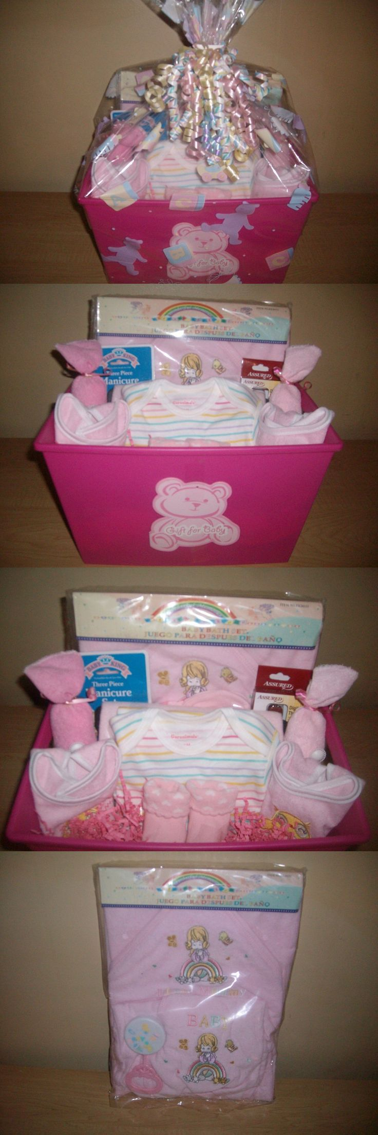 Gift Baskets and Supplies 16091: Baby Girl Deluxe Bath Time Baby Shower Gift Basket Or Centerpiece -> BUY IT NOW ONLY: $41.5 on eBay!