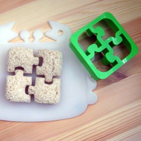 Puzzle lunch cutters