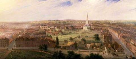 Birmingham from the Dome of St. Philips Church by Samuel Lines, 1821