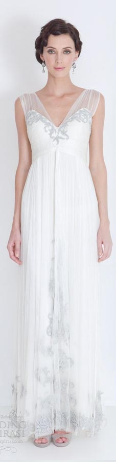 Catherine Deane bridal 2012 - godiva francis wedding dresses illusion straps