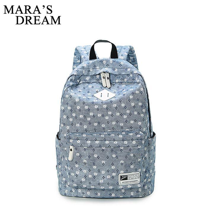 Mara's Dream 2017 Backpack National Style Laptop Bag Pack Canvas Printing Flowers Women Rucksack School Backpacks For Teenage