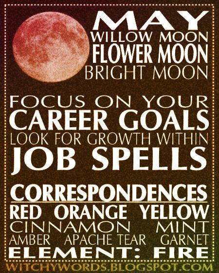 May Flower Moon full moon esbat ritual, correspondences and goals.  #wicca