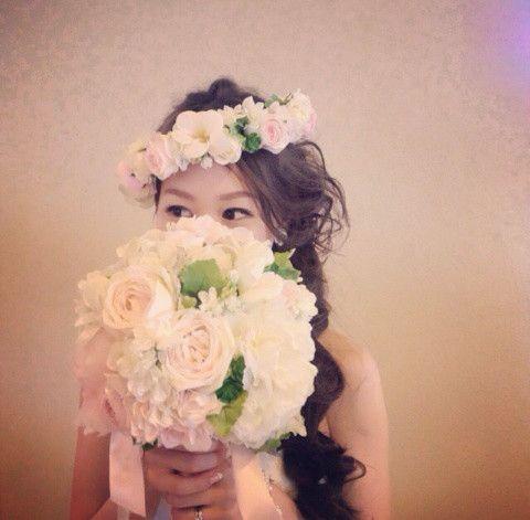 ハクレイの髪飾り の画像|Satomi の ハワイブライダルヘアメイク 『Satomi no sonogo』