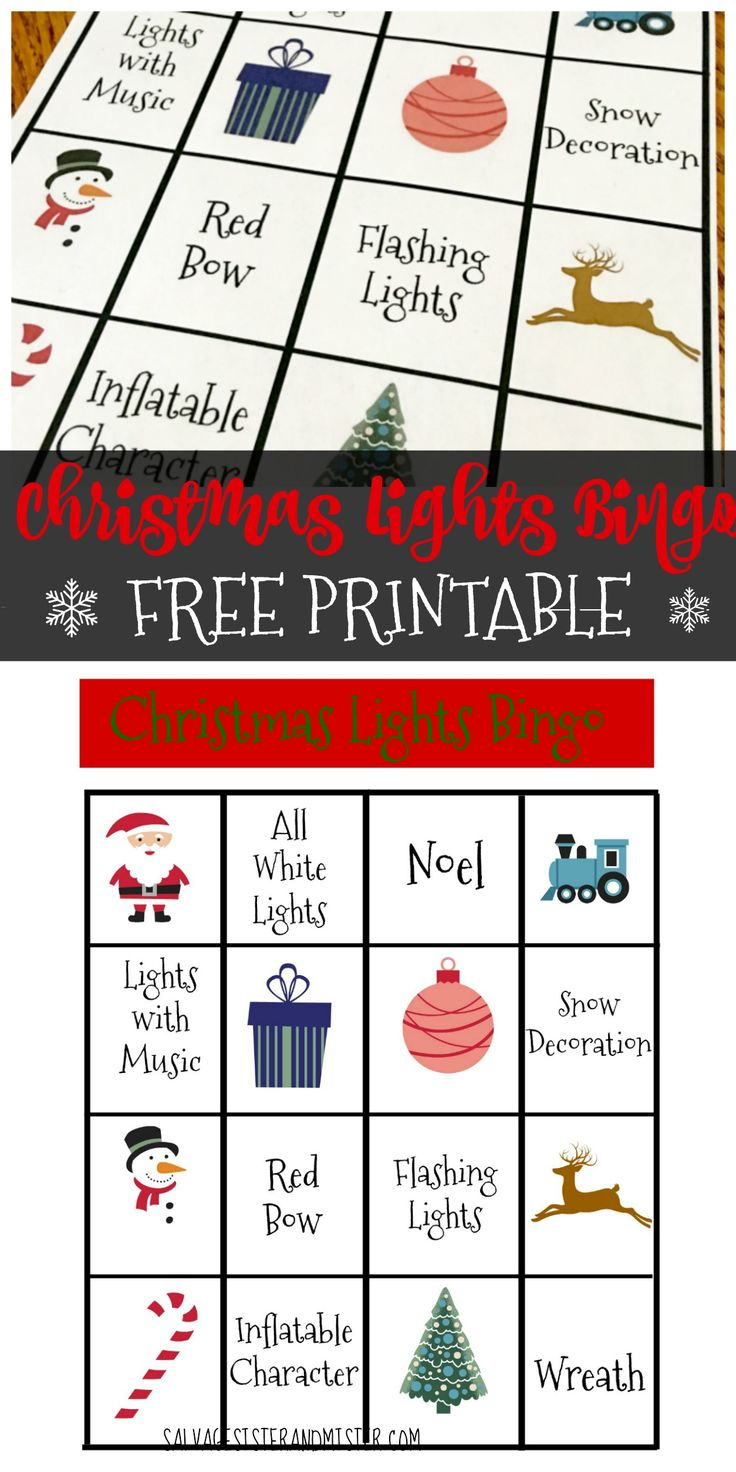 Get this free printable to use for your holiday tradition. Christmas light bingo is a fun game for all to play. Decide how you want to play and enjoy time with friends and family