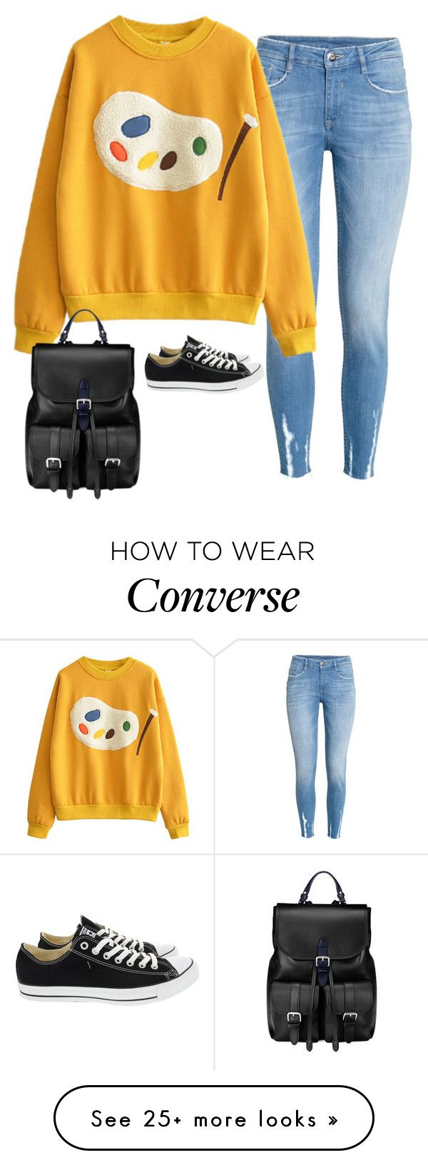 """""""Sin título #5207"""" by xoxominyeol on Polyvore featuring Converse and Aspinal of London"""