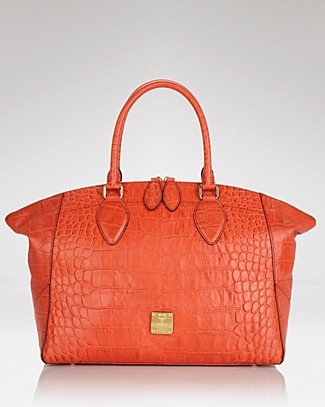MCM Tote - First Lady Croco | Bloomingdale's