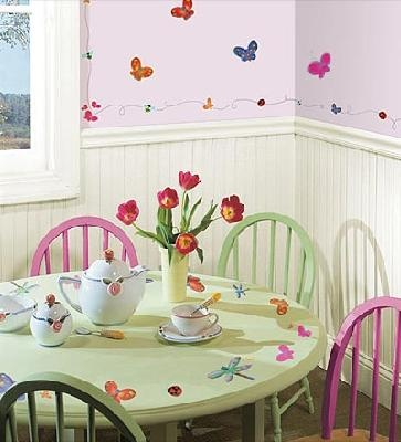 Jelly Bugs Repositionable Wall Stickers Set