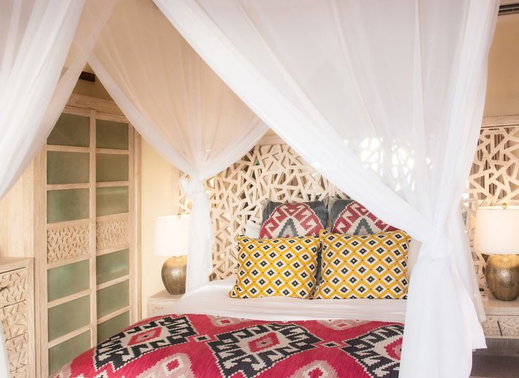 Casa Chameleon Hotel at Las Catalinas Las Catalinas, Costa Rica indoor room curtain Bedroom interior design bed sheet textile Design cottage decorated