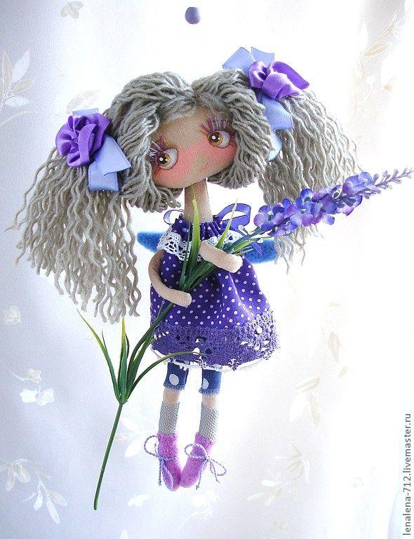 Лилу (по мотивам) - сиреневый,ангел,малышка,фиолетовый,натуральные материалы