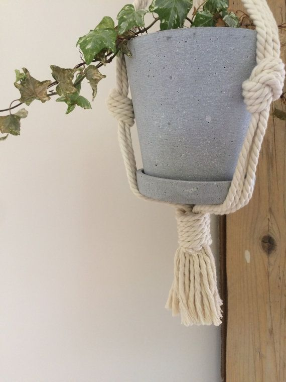 Macrame Plant Hanger by OzloDesigns on Etsy