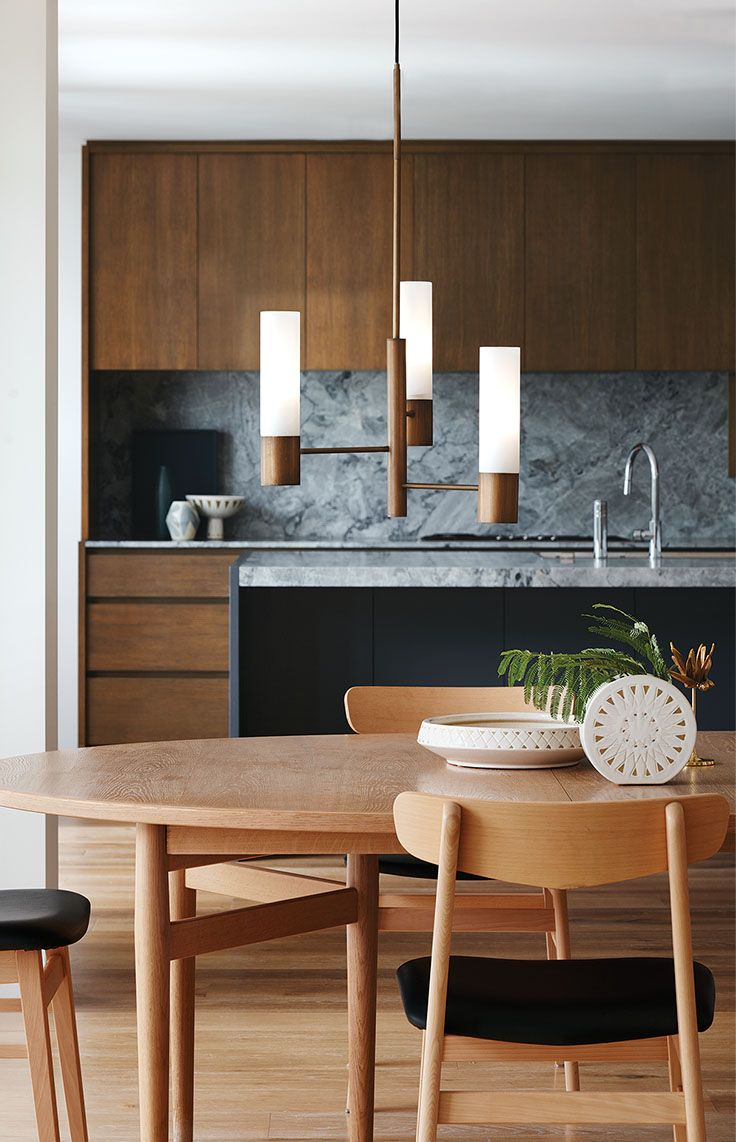 The Beacon Lighting Rochelle 3 light pendant in brushed bronze and opal diffusers.