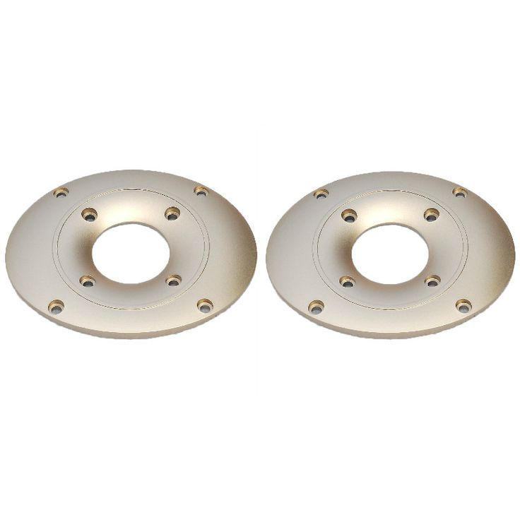 2Pcs Speakers Tweeters Decorative ABS Panel Speaker Treble Audio Champagne Panel Decorative Ring 111x91MM